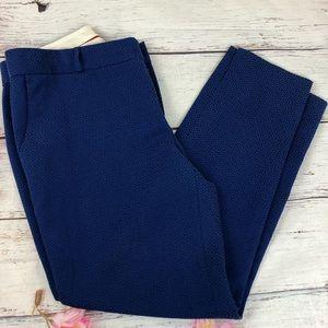 BANANA REPUBLIC Royal blue embossed ankle pant 8